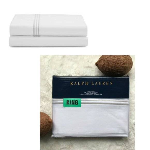 RL HOME 624TC DOVER Collection KING FLAT SHEET